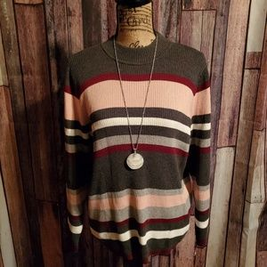 Karen Scott Petite XL Striped Sweater